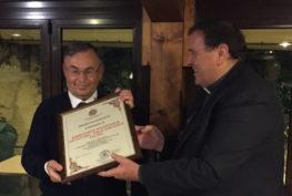 Roberto Carvin e il vescovo di Makeni Natale Paganelli
